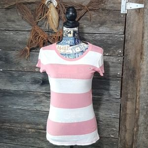 Pink n white Hollister top